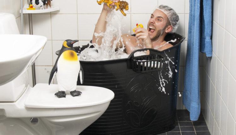 afslapning og leg i badebaljen