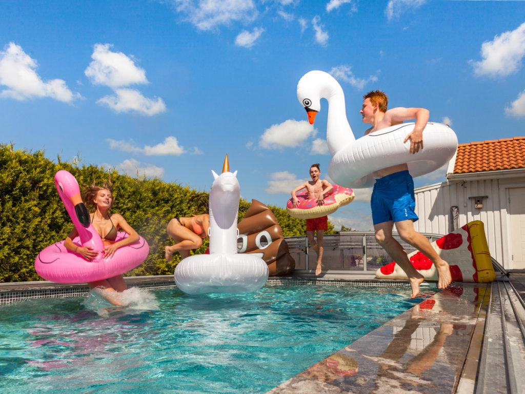 badedyr til pool - til voksne og unge