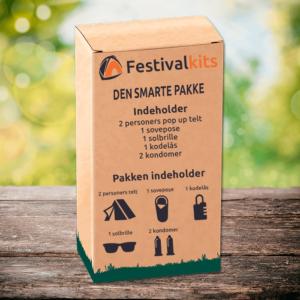 Festivalpakke til 1 eller 2 personer (Den smarte pakke)