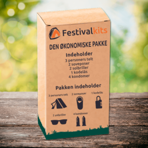 festivalpakke til 2-3 personer