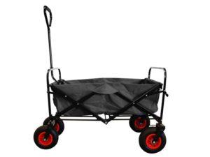 Maxofit trækvogn, sort med lufthjul