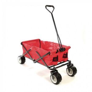 Foldbar trækvogn model offroad i rød