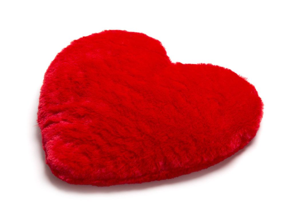 Hjertevarmepude med kerner