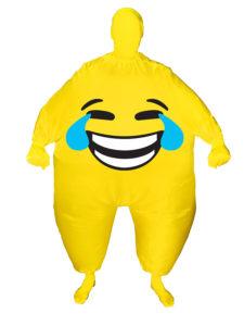 Oppustelig smiley kostume