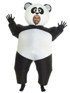 Oppustelig panda skinsuit