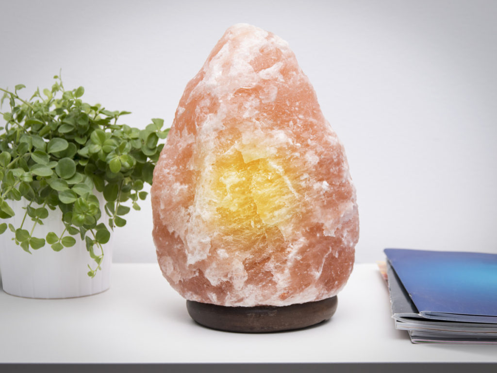 Salt lampe fra Himalaya