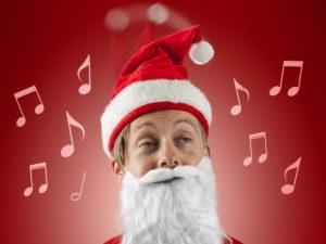 julemand med syngende nissehue