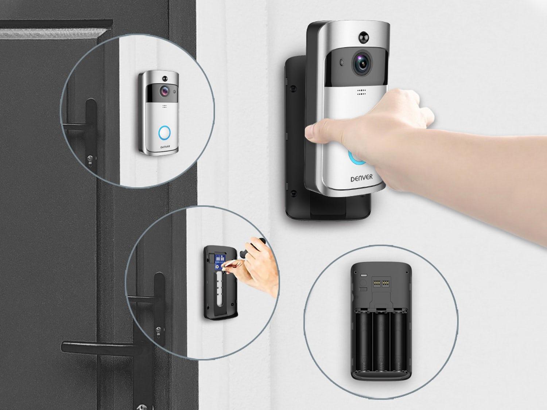smartphone dørklokke med hd kamera